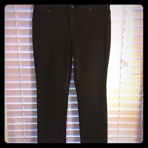 Black, studded back pocket, Chicos bootcut jeans!